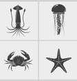 Sea Creature Black Icon vector image vector image