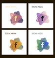 set for letter f flat web icon or sign isolated vector image vector image