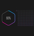 set hexagon percentage diagrams from 0 to 100 vector image vector image