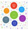 shirt icons vector image vector image
