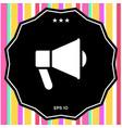 speaker bullhorn icon vector image
