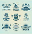 summer labels of tropical vector image vector image