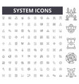 system line icons signs set outline vector image vector image