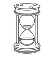 time sand glass cartoon vector image
