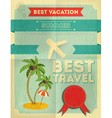 travel poster vector image vector image