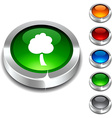 tree 3d button vector image vector image