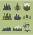 tree outdoor travel pine silhouette coniferous vector image vector image