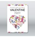 Valentine card invitation polygonal style