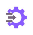 workflow process icon in flat style gear cog vector image