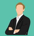businessman profile ico vector image