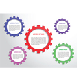 Color gears infographics background vector image
