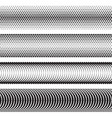 seamless halftone dots effect borders vector image