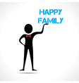 Man holding family text vector image