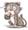 A crying cat vector image vector image