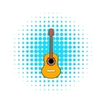 Acoustic guitar icon in comics style vector image vector image