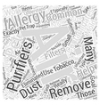 Allergy Air Purifiers Do They Really Work Word vector image vector image