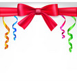 Background with red bow vector image