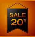 black pennant with inscription sale twenty vector image vector image