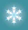 blue-white snowflake vector image