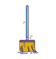 broom sweep equipment to clean house vector image vector image