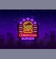 burger logo american design vector image