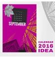Calendar 2016 abstract template 01 A-02 vector image