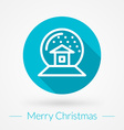 Christmas greeting card background in flat design vector image vector image