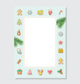 christmas letter blank template a4 decorated with vector image