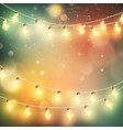Christmas night lights background eps 10 vector image