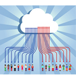 Cloud computing people communication vector image vector image