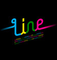colorful one line font one single continuous line vector image vector image