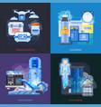 cryotherapy transplantation design concept vector image vector image