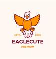 cute eagle cartoon logo icon vector image vector image
