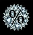 diamond Sale sign vector image vector image