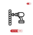 driller icon vector image