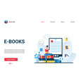 e-books website interface vector image vector image