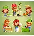 Farmers at Spring Work Set vector image vector image