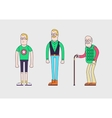 Generation of man from teen to senior Teenager vector image