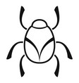 golden bug icon simple style vector image