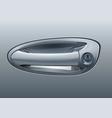 gray car door handle vector image