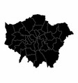 Greater london silhouette map
