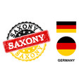 grunge textured saxony stamp seal with german vector image vector image