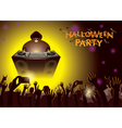 Halloween DJ Party Concert vector image vector image
