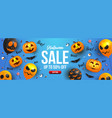 halloween sale banner design vector image
