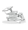 hand draw education cartoons vector image vector image