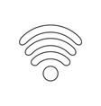 icon flat design internet wi fi symbol vector image vector image