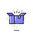 icon open carton package box for shopping concept vector image vector image