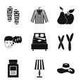 kid camp icons set simple style vector image vector image