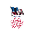 labor day hand lettering american holiday vector image