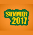 lettering with word summer vector image